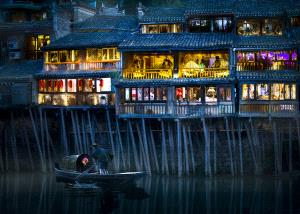 PhotoVivo Gold Medal - Weiguo Hu (China)  Stilted Buildings