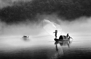 CPC Bronze Medal - Zhenyu Sun (China) <br /> morning fishing in Dongjiang River