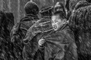 PhotoVivo Gold Medal - Yiliang Yang (China) <br /> Little Monk In The Snow 1