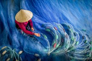 PhotoVivo Gold Medal - Chin Leong Teo (Singapore) <br /> Blue Fishing Nets 2