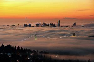 CPC Merit Award - Philip Chan (Canada) <br /> Foggy Vancouver Downtown